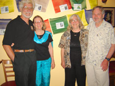 Rob and Barbara with Dr. Rod Jackson and Darla Hillard, founders of the Snow Leopard Conservancy